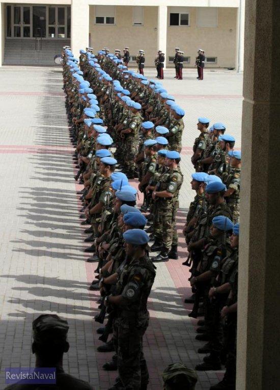 El contingente, formado por 200 infantes de Marina había partido de España el pasado 15 de octubre de 2004 (Foto: Armada)