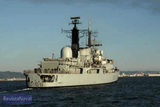 17/04/2005. HMS «Cardiff» (Foto: Javier Sánchez / RevistaNaval.com)