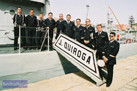 La última dotación del P 13 «Javier Quiroga» (Foto: Diego Quevedo Carmona)