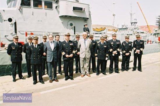 Reunión de antiguos comandantes del buque (Foto: Diego Quevedo Carmona)
