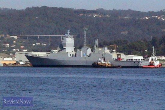 El buque en los muelles de Navantia Fene (Foto: RevistaNaval.com)