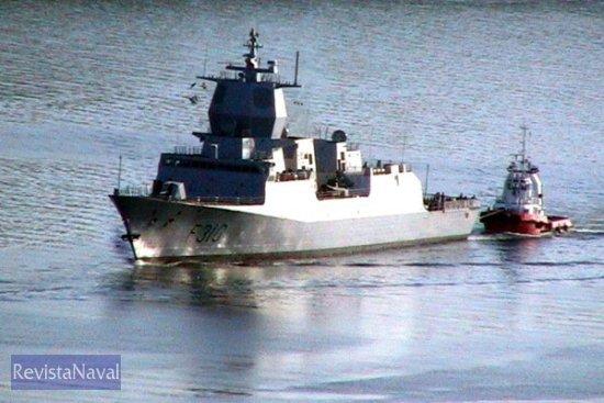 Esta imagen y las siguientes se corresponden a las pruebas efectuadas el viernes, 1 de julio de 2005 (Foto: RevistaNaval.com)