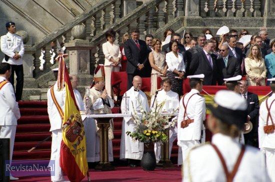 Celebración religiosa (Foto: Uxío Leira/RevistaNaval.com)