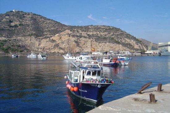 Abriendo la línea de bloqueo para franquear el paso al buque auxiliar de la Armada (Foto: Javier Peñuelas/Revista Naval)
