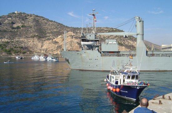 «El camino español» se abre paso sin problemas (Foto: Javier Peñuelas/Revista Naval)