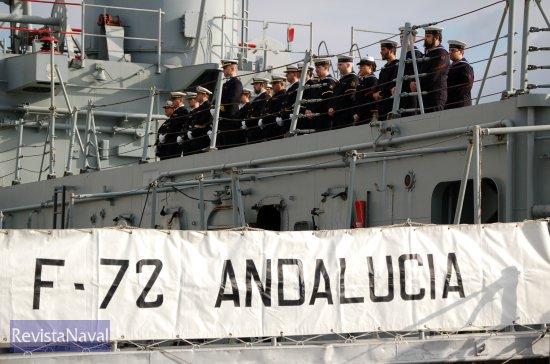 Última dotación de la fragata «Andalucía» (Foto: Fernando Rivera/Revista Naval)