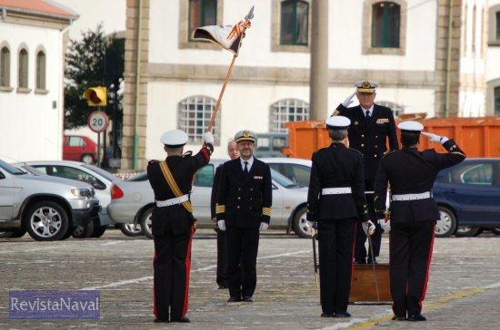El acto fue presidido por el almirante Jefe del Arsenal de Ferrol, Francisco Cañete (Foto: Fernando Rivera/Revista Naval)