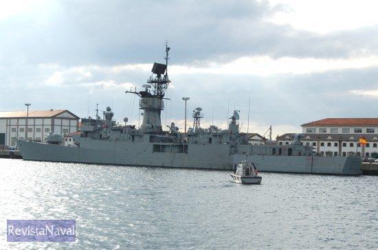 La fragata F-75 «Extremadura» en su base en el Arsenal de Ferrol, en una imagen captada el pasado jueves 15 de diciembre (Foto: Fernando Rivera/Revista Naval)