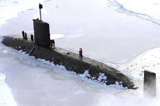 HMS «Tireless» en el Ártico (Foto: Royal Navy)
