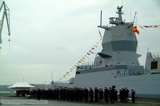 El buque fue entregado en los muelles del astillero de Ferrol (Foto: Fernando Rivera/Revista Naval)