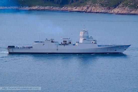 El buque durante sus pruebas de mar el pasado mes de marzo (Foto: Fernando Rivera/Revista Naval)