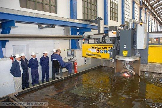 La fragata F-105 comienza a tomar forma en el astillero de Ferrol (Foto: Navantia)