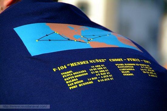 Más de 20.000 millas náuticas recorridas... a eso se le llama «sudar la camiseta» (Foto: Revista Naval)