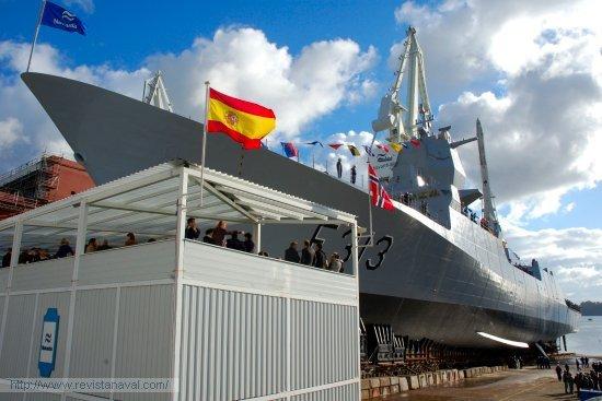 Navantia celebró el hito del lanzamiento del cuarto buque de la clase  «Fridtjof Nansen» para la Marina de Noruega (Foto: Revista Naval)