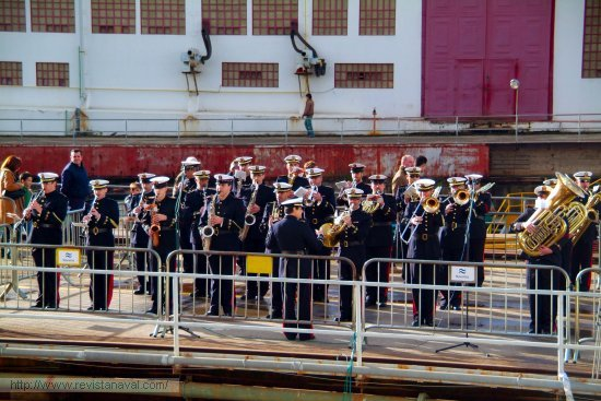 La banda de música del Tercio Norte de Infantería de Marina amenizó el acto (Foto: Fernando Rivera/Revista Naval)