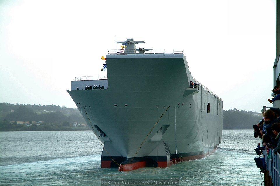 El «Juan Carlos I» será la segunda plataforma para aviación embarcada con que contará la Armada española (Foto: Xoán Porto/Revista Naval)