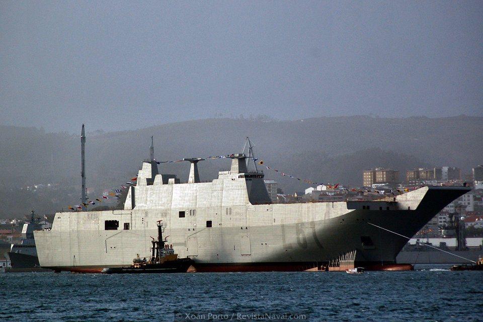 Vista del buque desde la amura de estribor (Foto: David López Gutiérrez/Revista Naval)