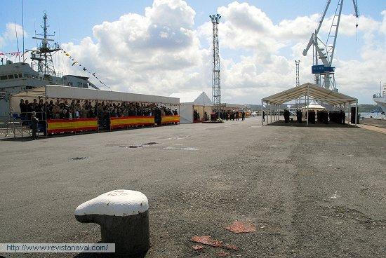 Instantes previos al acto de entrega (Foto: Fernando Rivera/Revista Naval)