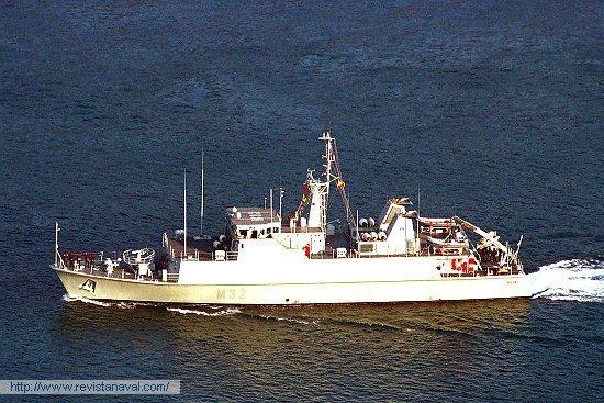 Imagen de archivo del M-32 «Sella» (Foto: Xoán Porto/Revista Naval)