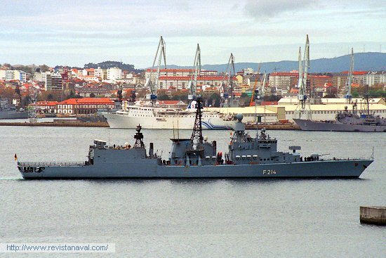 La fragata «Lübeck» durante su última escala técnica en Ferrol (Foto: Revista Naval)