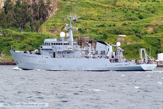 H-130 «Roebuck» (R.U.) (Foto: Xoán Porto/Revista Naval)