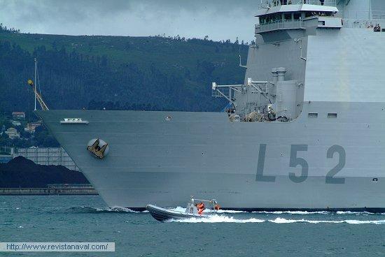 L-52 «Castilla» (Foto: Xoán Porto/Revista Naval)