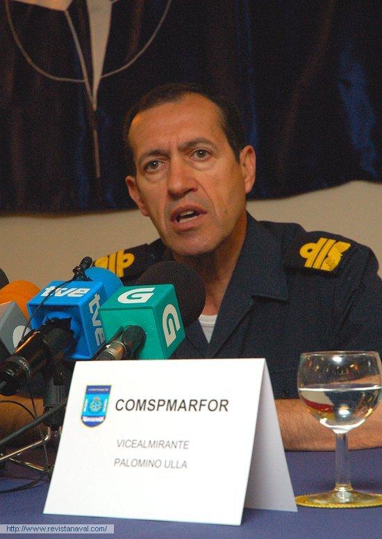 El vicealmirante Palomino Ulla, comandante del Cuartel General Marítimo de Alta Disponibilidad espanol (Foto: Fernando Rivera/Revista Naval)