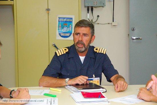 CN José Ramón Rodríguez, jefe del Estado Mayor embarcado (Foto: Fernando Rivera/Revista Naval)