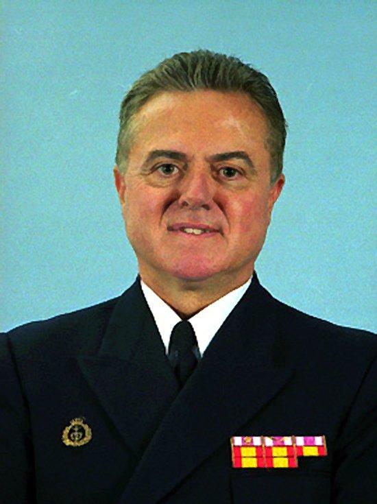 El nuevo AJEMA, Almirante General Manuel Rebollo García en una imagen retrospectiva