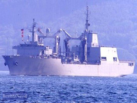 El A-14 «Patiño» será uno de los buques incluidos en el programa de modernización.