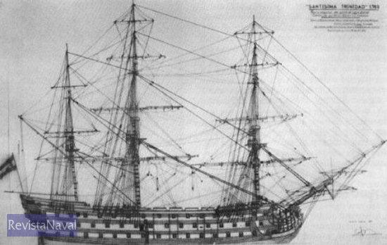 """La majestuosidad del """"Santísima Trinidad"""" se perdió en Trafalgar"""
