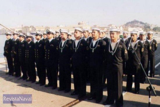 Dotación del SS «Carrera» (Foto: Diego Quevedo Carmona)