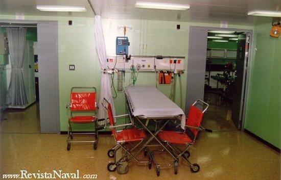 Vista parcial de la zona de hospital de un LPD