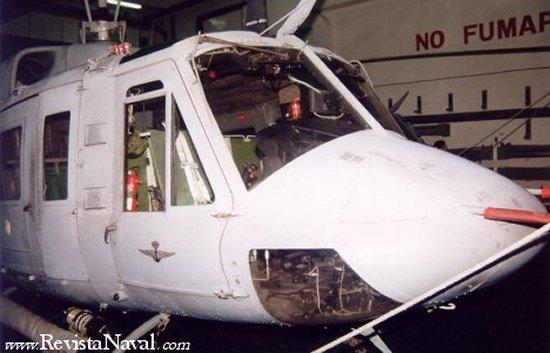 Helicóptero AB-212 de la Tercera Escuadrilla