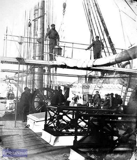 Interior de la fragata Triunfo en Puerto Stanley (Malvinas) en 1863 (Foto: CSIC)