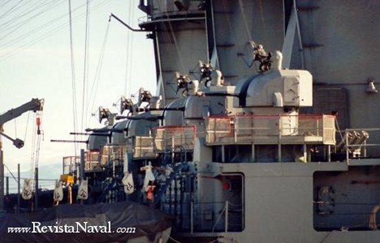 Seis montajes Meroka a bordo de tres fragatas de la clase Baleares
