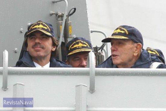 No hubo presencia de miembros de la Casa Real durante la entrega del buque que lleva el nombre del anterior Conde de Barcelona, Juan de Borbón (Foto: Gab. Comunicación Xunta de Galicia).
