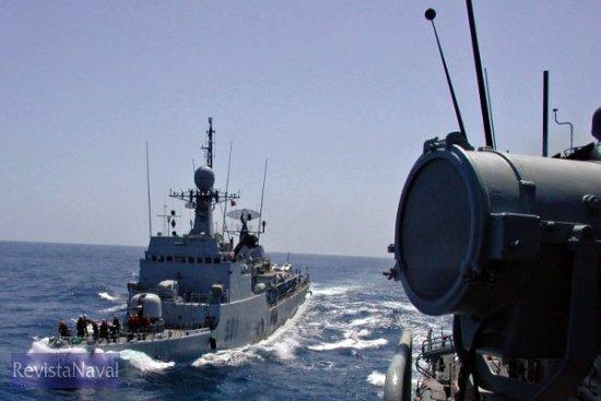 Colaboración. Imagen del reciente ejercicio conjunto entre EUROMARFOR y la Marina Real de Marruecos (Foto: vía Javier Peñuelas)