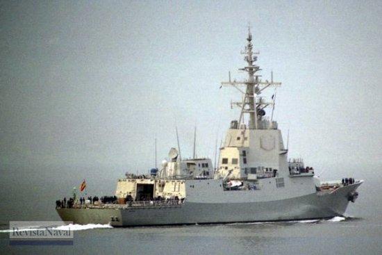 Fragata F-103 «Blas de Lezo» durante sus pruebas de mar en septiembre de 2004. La Marina Australiana quiere dotarse de un buque inspirado en las fragatas españolas, pero de mayor tamaño (Foto: RevistaNaval.com)
