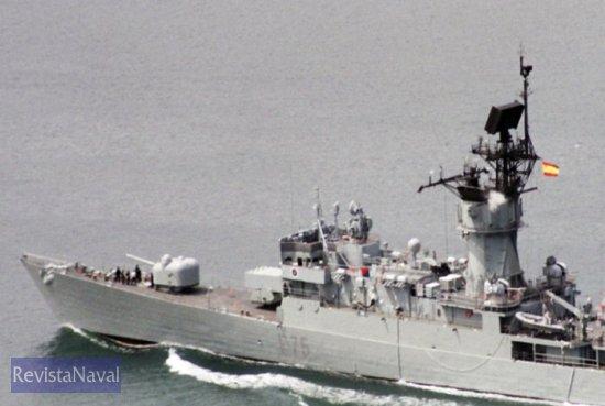 La fragata F-75 «Extremadura» en una imagen de archivo (Foto: X. Porto)