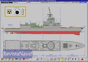 Pantalla del Sistema Integrado de Control de Plataforma de las fragatas F-100 (Fuente: Izar)