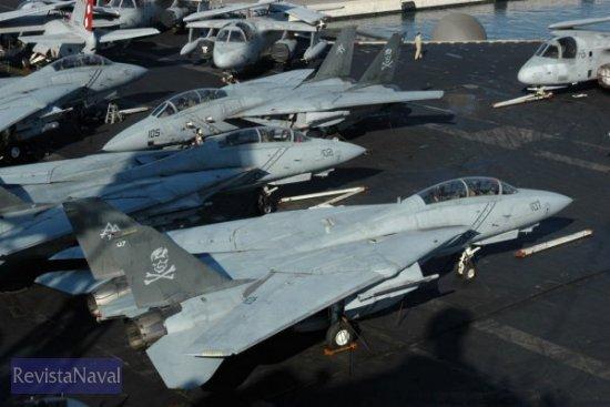 Los impresionantes F-14 Tomcat se aproximan a su
