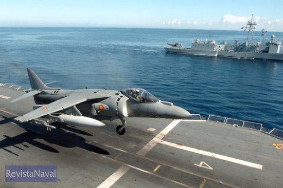 Demostración aeronaval (Foto: MDE)