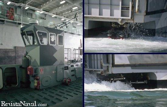 Para la realizaci�n de los desembarcos tipo OTH, las LCM-1E, est�n equipadas con un radar de navegaci�n tipo comercial  ANRITSU / La propulsi�n se realiza mediante dos potentes hidro-jets