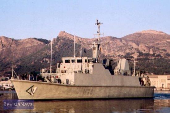 El cazaminas M-36 «Tajo» durante su último periodo de pruebas previas a su entrega a la Armada, la imagen fue captada el pasado 19 de noviembre en Cartagena (Foto: Diego Quevedo Carmona)