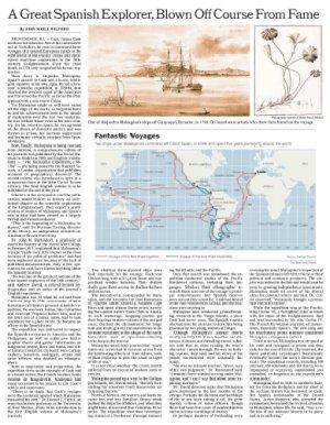 El New York Times se hace eco de la edición en inglés de los diarios de la expedición