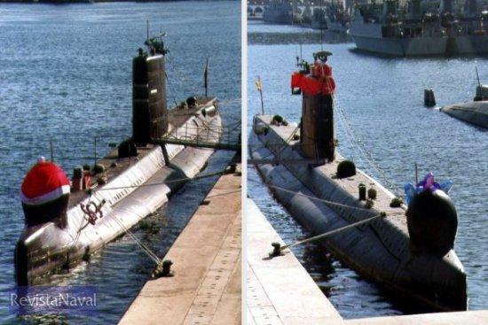 Los regalos de Papá Nöel son las maniobras navales que afrontarán ambos buques durante el próximo año (Foto: Diego Quevedo Carmona)
