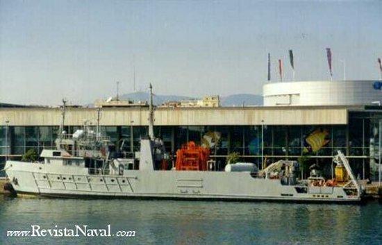 El entonces A-102 Mar Rojo, en Barcelona