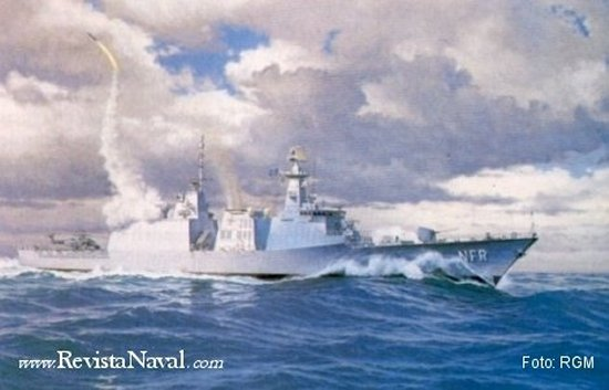 Interpretación artística de la NFR-90 (Revista General de Marina)