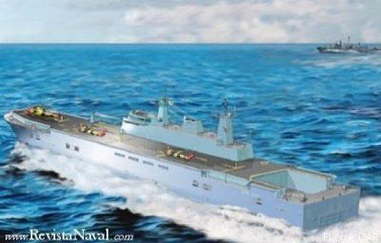 Impresión artística de un LHD ofrecido al Ministerio de Defensa de Bélgica